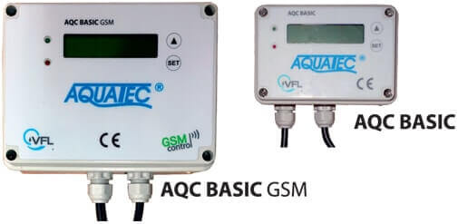 Control units for Aquatec VFL wastewater treatment plants AQC BASIC or AQC BASIC GSM