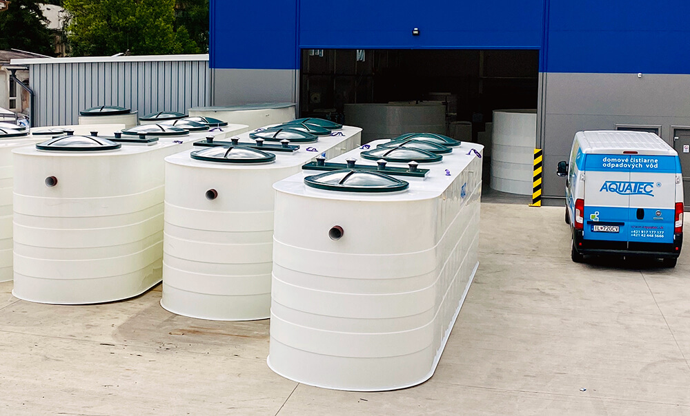 Wastewater treatment plants AT 300 to AT 2000 oval MAXI