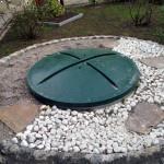 Uzamykateľný plastový kryt domovej čističky odpadových vôd Aquatec VFL