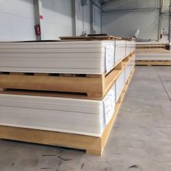 PP (polypropylén) plastové dosky  6x1500x4000 mm - PP-C natural  hmotnosť...