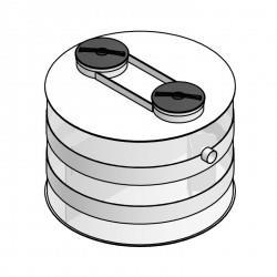 Válcové odlučovače tukov (lapače tukov) OT-V slúžia na separovanie tukov a olejov...