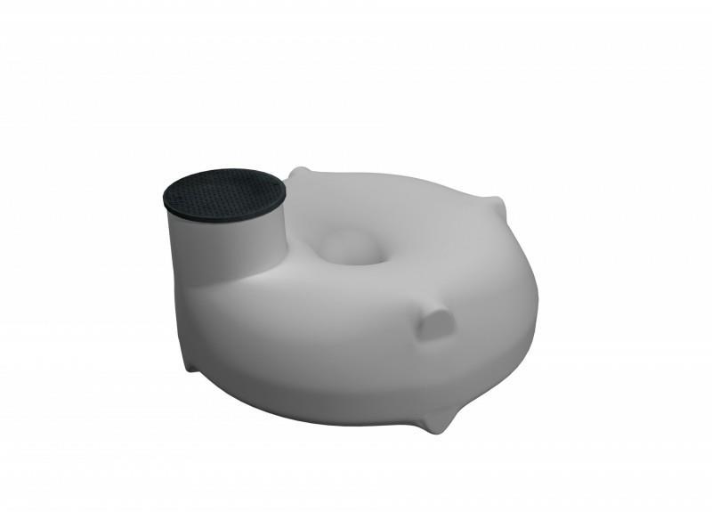 Nízkoprofilová podzemná plastová nádrž
